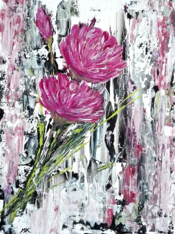 Nostalgie, autor Marcela Kozáková, akrylová malba, rozměry 30x40, plátno artist canvas 100% cotton.
