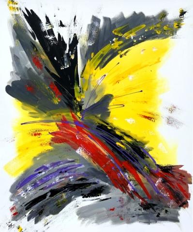 Akrylová malba, rozměry 100x120, velký obraz, autor Marcela Kozáková, plátno artist canvas 100% cotton.