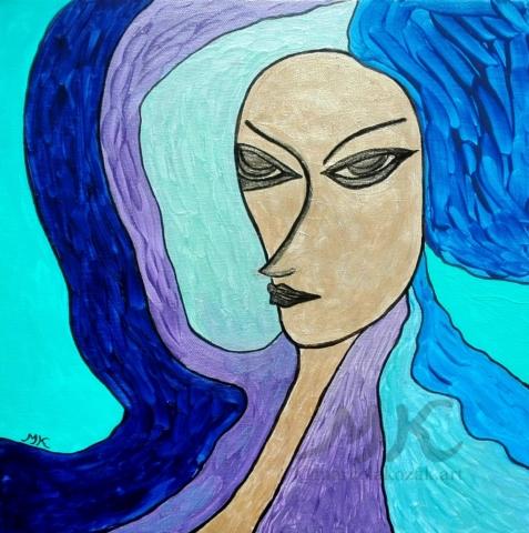 Akrylová malba, rozměry  50x50, autor Marcela Kozáková, plátno artist canvas 100% cotton.