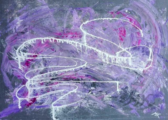 Psycho, autor Marcela Kozáková, akrylová malba, rozměry 70x50, plátno Leinwand Canvas 100% cotton - wood from well managed forests.