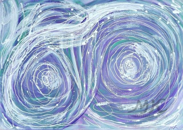 Oči blázna, autor Marcela Kozáková, akrylová malba, rozměry 70x50, plátno Leinwand Canvas 100% cotton - wood from well managed forests.