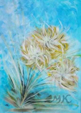 V květu, autor Marcela Kozáková, akrylová malba, rozměry 50x70, plátno artist canvas 100% cotton.