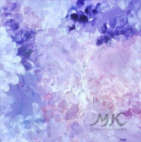 Snění, autor Marcela Kozáková, akrylová malba, rozměry 50x50, plátno artist canvas 100% cotton.