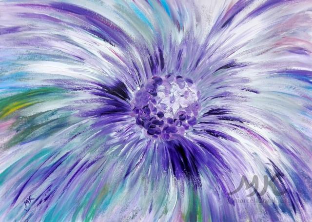 Violetta, autor Marcela Kozáková, akrylová malba, rozměry 50x70, plátno artist canvas 100% cotton.