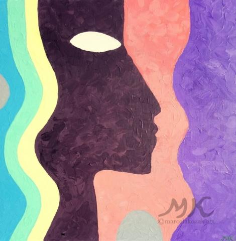 Afrika, autor Marcela Kozáková, akrylová malba, rozměry 30x40, plátno artist canvas 100% cotton.