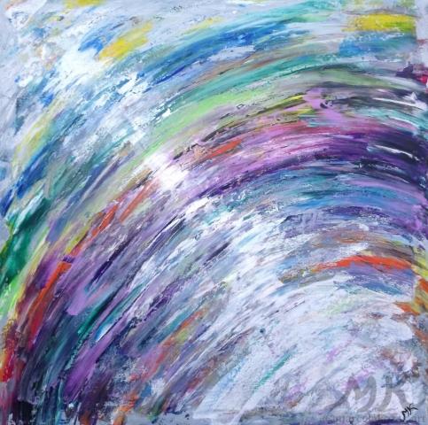 Světlo, autor Marcela Kozáková, akrylová malba, rozměry 50x50, plátno artist canvas 100% cotton.